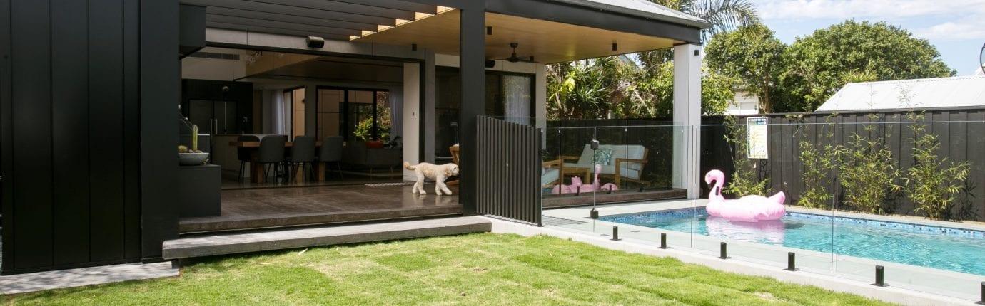 house backyard with pool