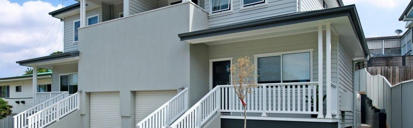 exterior design of a duplex house